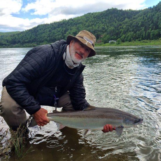 Ralph with a nice Restigouche Salmon