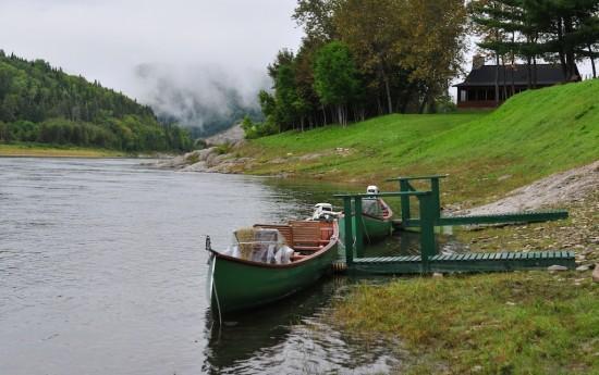 restigouche river lodge river view