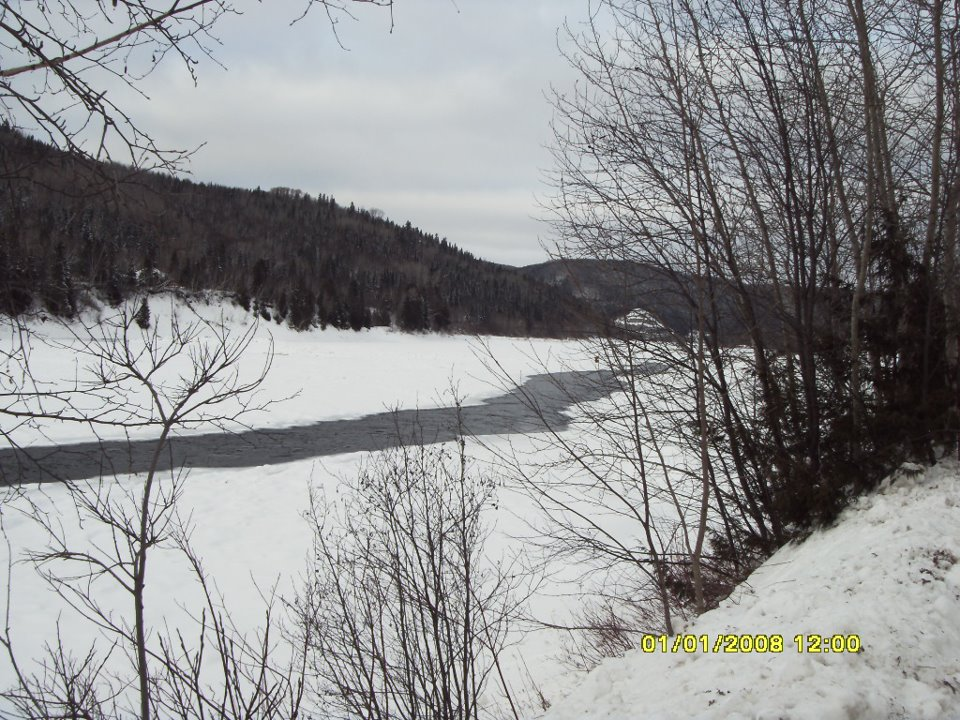 Restigouche River Lodge Winter scene