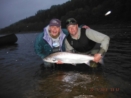 Guest Alex and a nice Salmon