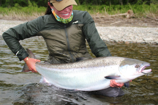 emily with atlantic salmon
