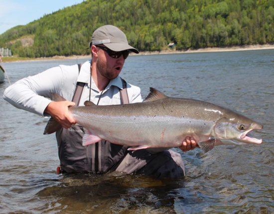 Colin Huff and a Restigouche Atlantic Salmon